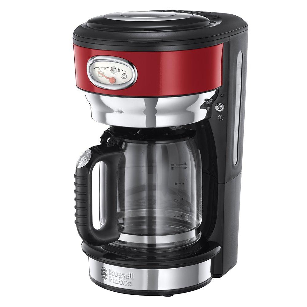 Russell Hobbs 21710-56 Cafetière filtre Retro Rouge 1 L 1000 W 21710-56 Retro