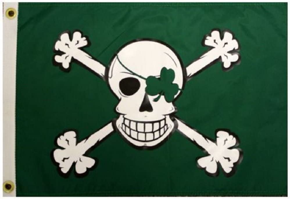 Flappin/' Flags Pirate Jack Rackham Outdoor Garden Flag 12 x 18 inches
