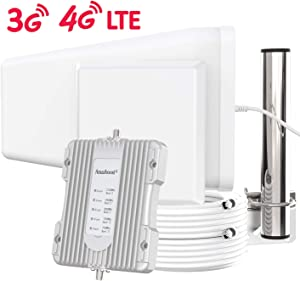 Amazboost Indoor Cell Phone Signal Booster for Home,Supports 5,000 Square Foot Area,All U.S. Carriers - Verizon, AT&T, T-Mobile, Sprint & More-FCC Approved 4G 3G 2G Cell Phone Boost