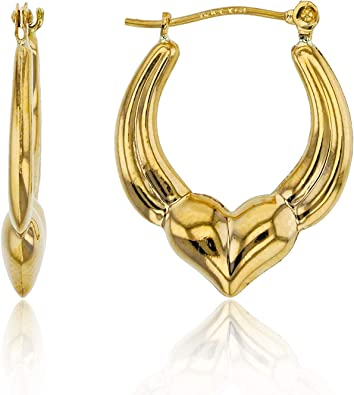 Best Birthday Gift 14k Polished Dolphin Hoop Earrings