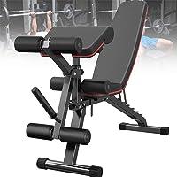 VULID Opvouwbare Fitness Weight Bench, Halterbank met Leg Extension en Leg Curl, 7-voudig verstelbare rugleuning…