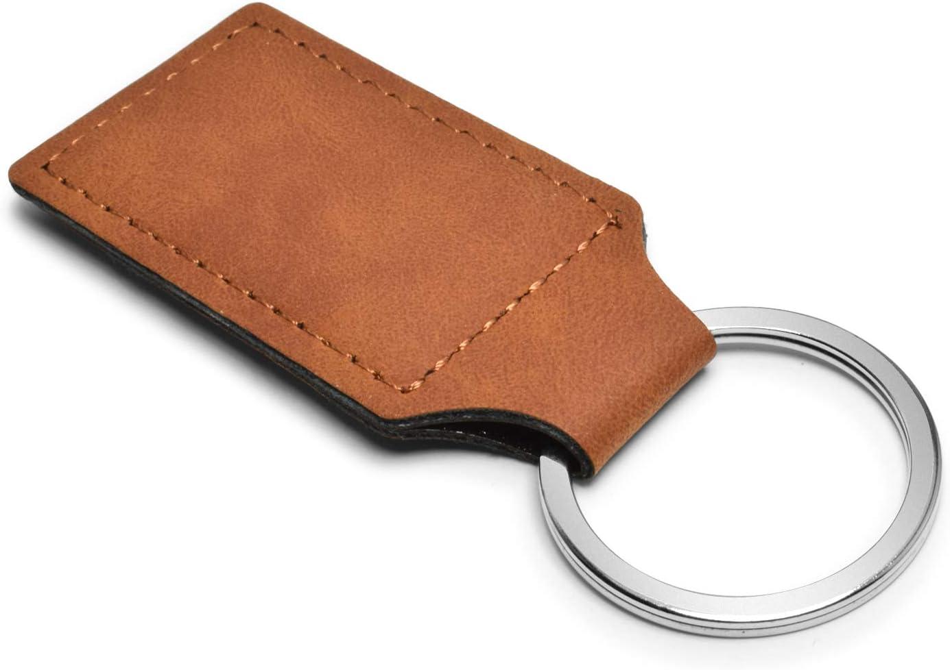 Dodge Viper Rectangular Brown Leatherette Key Chain iPick Image for