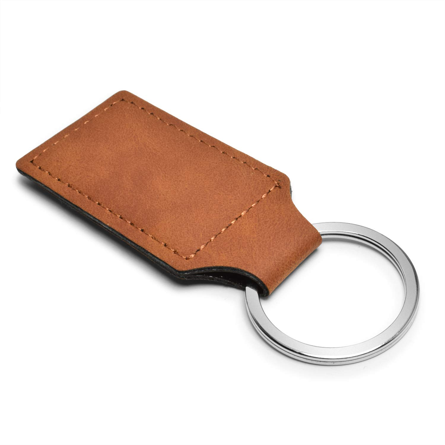 Ford Rectangular Brown Leather Key Chain Focus ST iPick Image