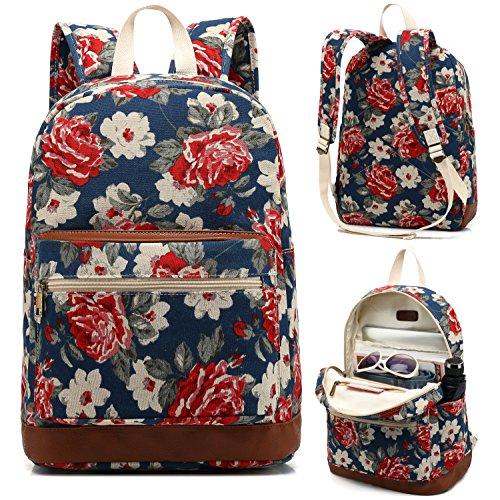 (Kenox Girl's School Rucksack College Bookbag Lady Travel Backpack 14Inch Laptop Bag)