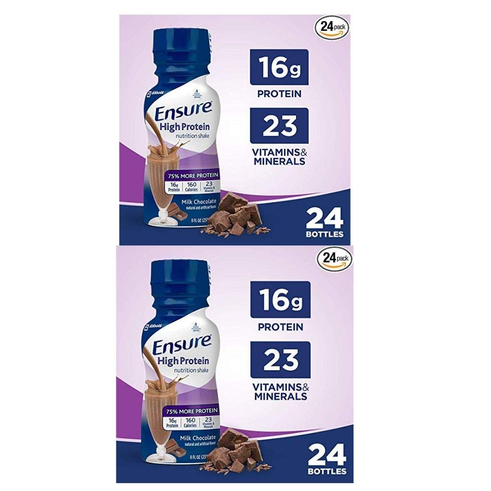 Ensure High Protein Nutritional Shake with 16g of High-Quality Protein (Chocolate) (Chocolate (Pack of 1)) (Strawberry) (Strawberry) (2 Pack of Chocolate)