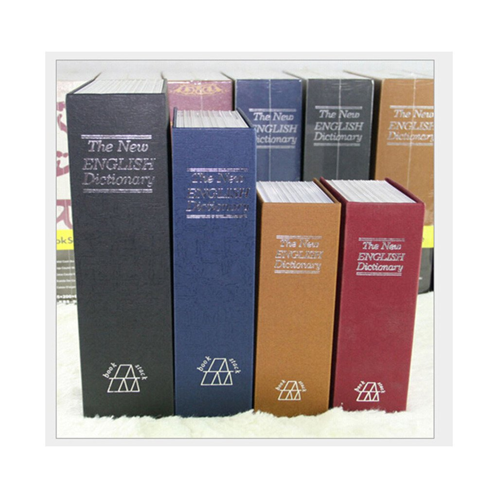 Fake Book English Dictionary Book Safe Box Storage Box Mini Wallet middle Generic