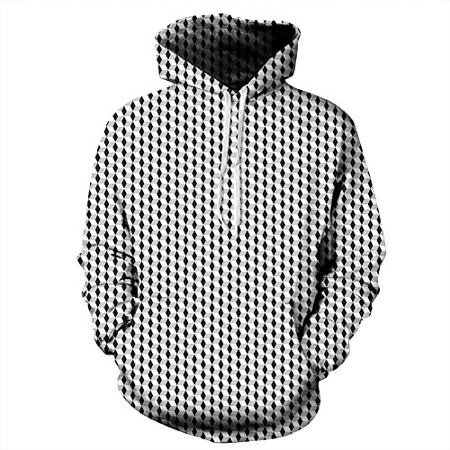 Colorfulworld Unisex Sudadera de con Capucha 3D Digital Print Sweatshirt Hoodies QYDM 113