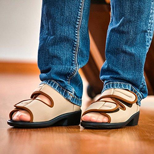 Promed - Sandalias de vestir para mujer Beige beige Beige - beige