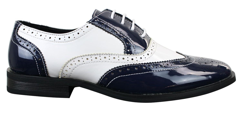 Cuir Style Pu Brogues Chaussures Ann Homme Brillant Gatsby Verni CxTwqf54