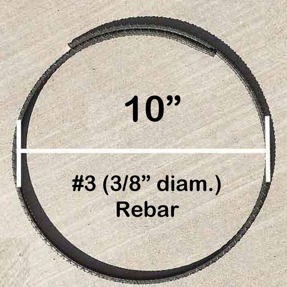 Rebar Ring #4 10 Diam with Overlap