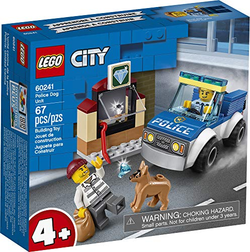 LEGO City Police Dog Unit 60241 Police Toy, Cool Building Set for Kids, New 2020 (67 Pieces)
