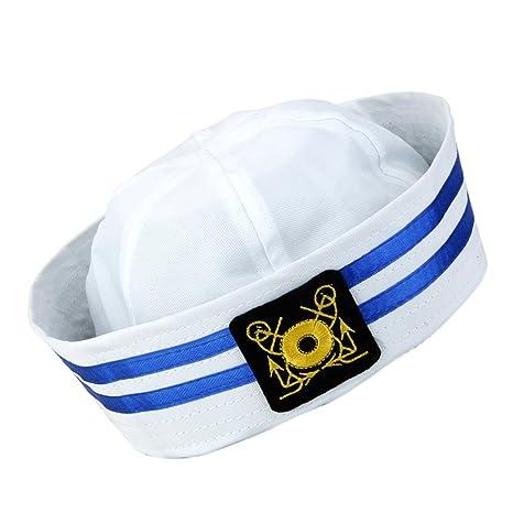 Baoblaze cap Cappello da Capitano Marine Militare Cappellini Foto Props per  Bambino -  1 d4d4b153ce58