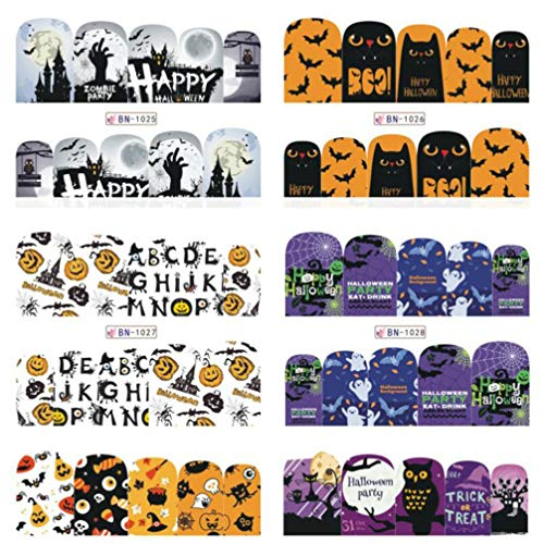 Lurrose Halloween Stickers Manicures Children product image