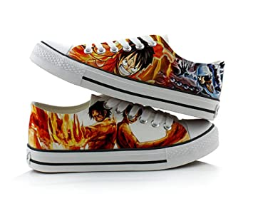 One Piece Luffy Chopper Cosplay Shoes Canvas Shoes Sneakers Colourful Low Cut 1