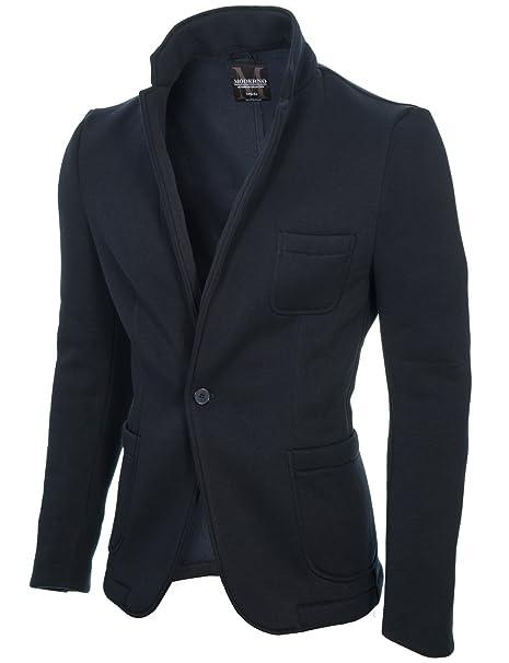 quality design 5a694 b76d6 MODERNO - Slim Fit Giacca Uomo - Cotone Blazer (MOD14515B)