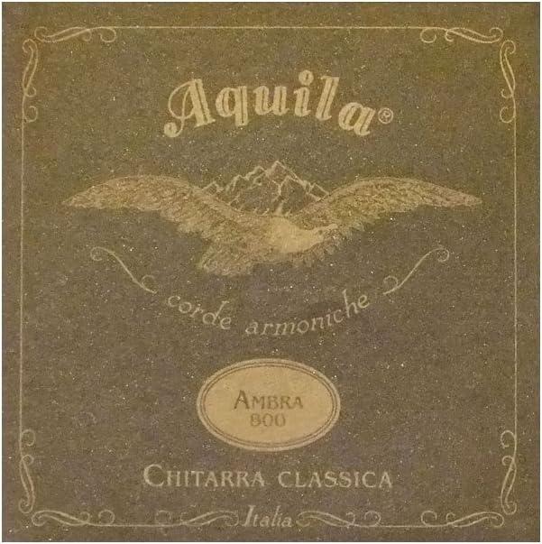 Aquila 82C 800 Ambra Nylgut y Seda de Estilo romántico con Cuerdas para Guitarra clásica