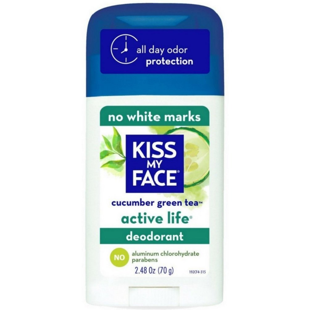Kiss My Face Natural Active Life Deodorant Cucumber Green Tea