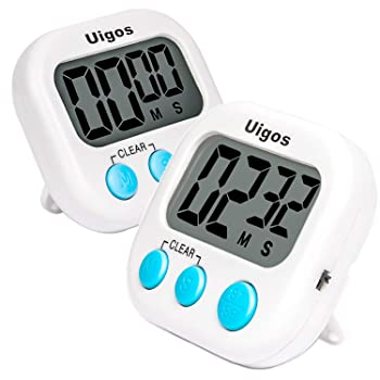 Uigos 2 Pack Digital Kitchen Timer