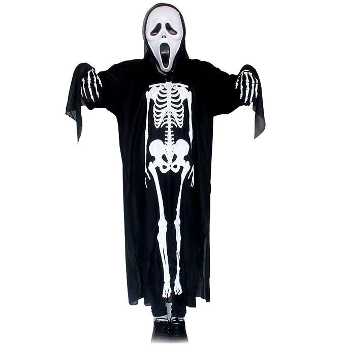 ARAUS Fantasmas Ropa Cosplay Disfraz de Halloween Decoración Accesorios Máscara Esqueleto Fantasma Ropa (A (