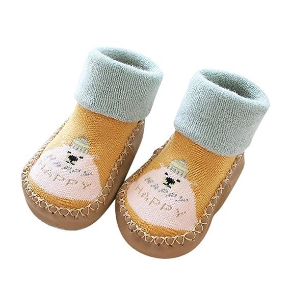 Calcetines Antideslizante Calcetines Altos Bebe Calcetines Antideslizantes De Bota Niños Bebé Dibujos Animados Zapatos Calientes Zapatillas De Interior ...