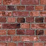 Surface Illusions SF084793 Red Brick Vinyl Wallpaper BC1583056