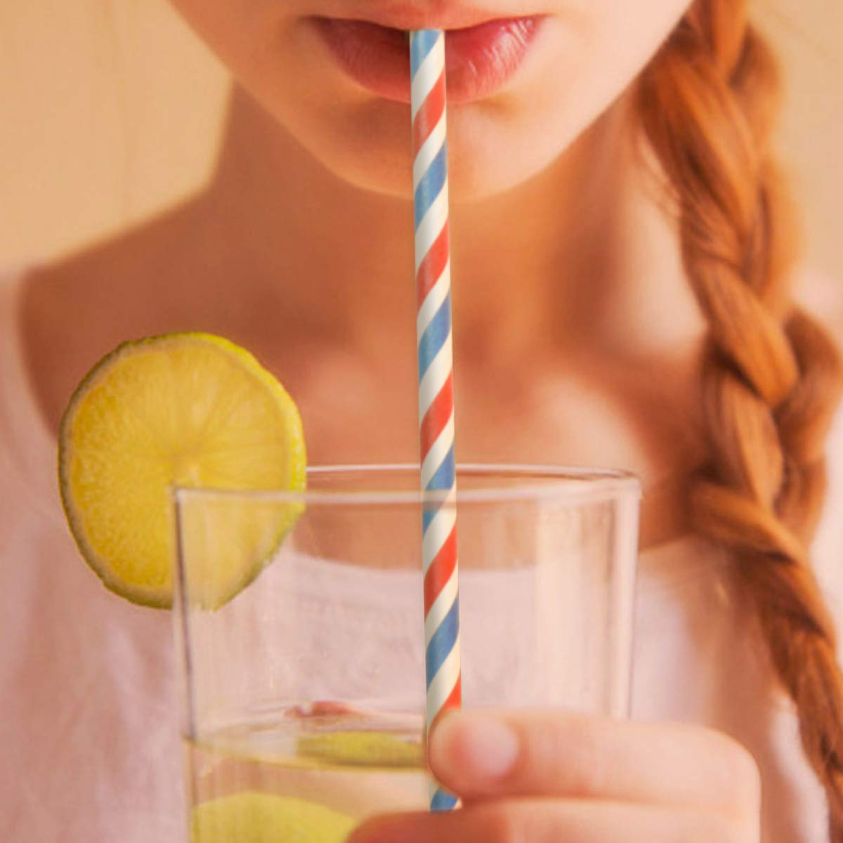 Triple Layer Technology Thick Drinking Straws for Kids Parties 200pc Four Colours,Paper Straws Disposable Drinking Straws AOXINAN Paper Straws Biodegradable Environmentally Friendly Straw