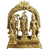 Elite Ram Darbar Statue / Idol - Lord Rama Laxman And Sita Religious Indian Art Statue / Idol (lxbxh - 3.0 X 1.0 X 3.2 Inches)