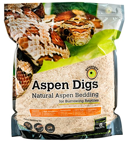 Galapagos (05064 Aspen Digs Shavings Bedding, 8-Quart, Natural