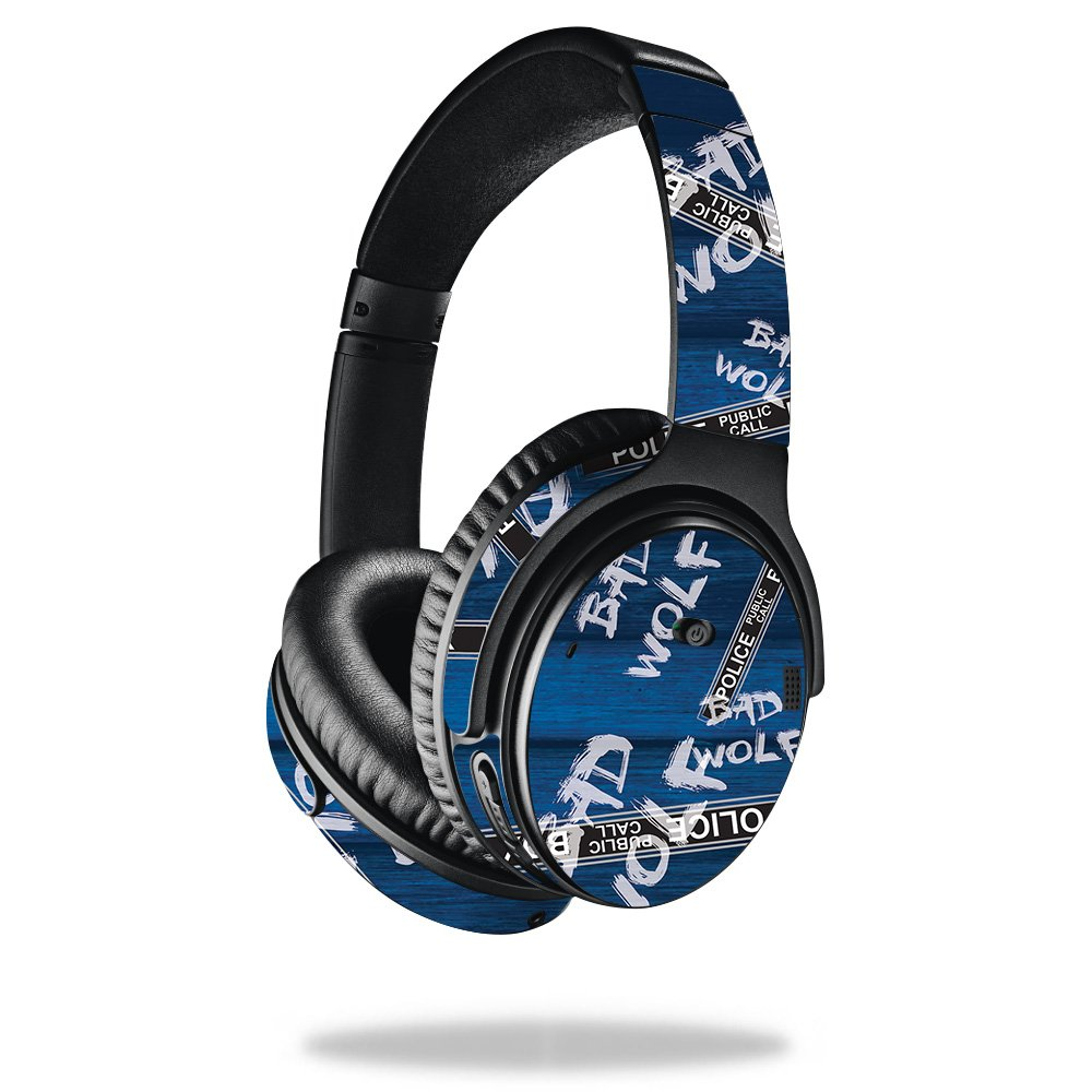 MightySkins Skin for Bose QuietComfort 35 Headphones - Time Travel Boxes | Protective, Durable, and Unique Vinyl Decal wrap Cover | Easy to Apply, Remove, and Change Styles | Made in The USA
