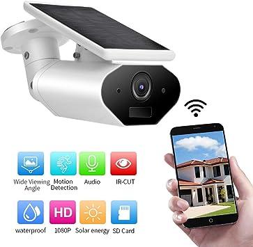 Opinión sobre HD 1080P Wi-Fi Cámara IP Alimentada por Energía Solar, Impermeable Cámara de Seguridad Exterior con Batería, Visión Nocturna, Detección Movimiento