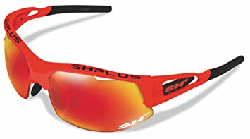 SH + RG 4750, lunettes Mixte adulte M Bianco/Revo Laser Rosso