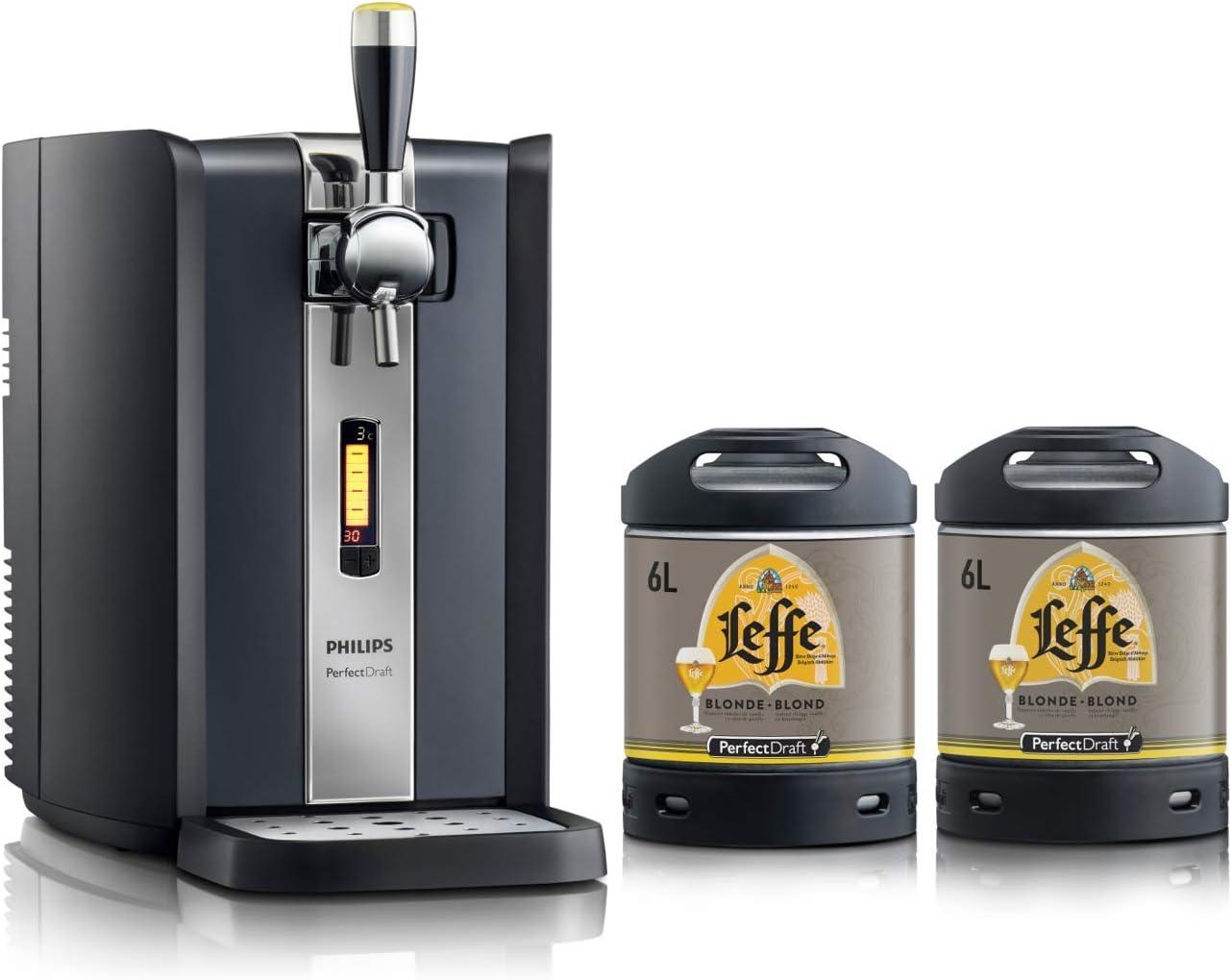 Dispensador de cerveza PerfectDraft de 6 litros. Incluye 2 barriles de 6 litros. Incluye un depósito de 10 euros (Leffe Blonde)