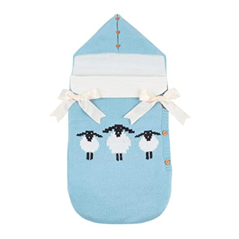 Silveroneuk - Manta para bebé recién nacido, cálida, para saco de dormir, con