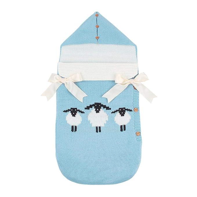 Silverone Bebé Recién Nacido De Dibujos Animados De Punto Cálido Saco De Dormir Botón Swaddle Wrap Manta: Amazon.es: Ropa y accesorios