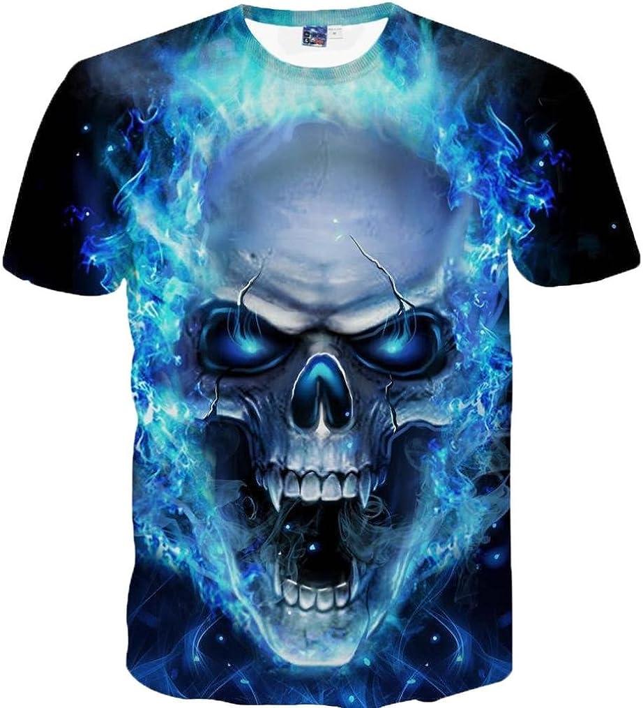 ZARLLE Camiseta Hombre, Casual Skull Impresion 3D Tees De Tallas Grandes Camiseta para Hombre tee Cuello Redondo Tops Camisetas Ropa Hombre Barata Deportiva 2018 Ofertas: Amazon.es: Ropa y accesorios