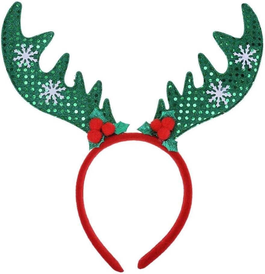 New Christmas Headband Boppers Santa Hats Reindeer Antlers Xmas Red Party Fun UK
