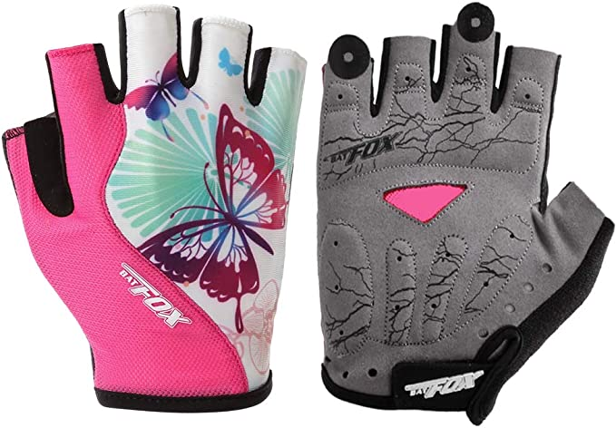 Adjustable Girls Cycling Gloves Heavy Padded Bicycle Cycle Glove Anti Slip Set