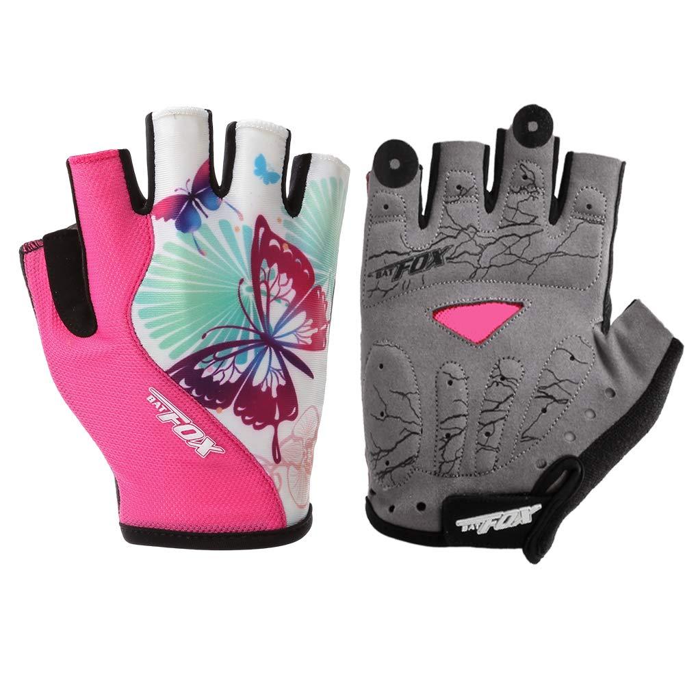 Half Finger Cycling Gloves Bike Bicycle Gel Padded Fingerless Cycle Gloves UK