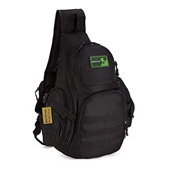 95200eeff47b Huntvp Tactical Military Sling Chest Pack Bag Molle Daypack Laptop Backpack  Large Shoulder Bag Crossbody Duty Gear for Hunting Camping Trekking