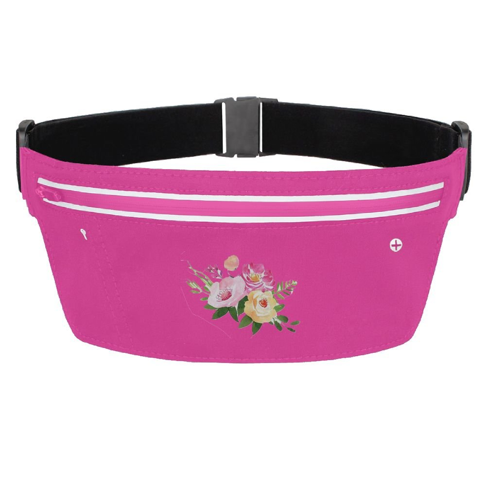 70%OFF Running Belt Waist Pack Three Flowers Anti-theft Invisible Waterproof Bag With Adjustable Elastic Strap For Women