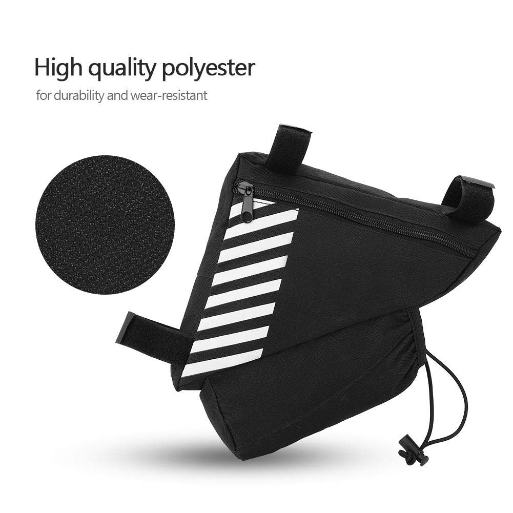 Portable Quality Bike Top Tube Kettle Triangle Pouch Holder Pack Saddle Pouch Riding Bag for Folding Bike Mountain Bike Road Bike Dilwe Bike Saddle Pouch