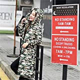 Feilongzaitianba Wadded Cotton Jacket Women Winter Coat Female Fashion Warm Parkas Hooded Women'S Down Jacket Casual Coat Plus Size 3Xl C2381 Camouflage Green Xl