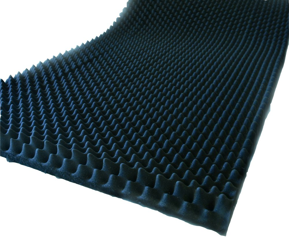Noppenschaum 2-10cm Schalldämmung Isolierung Akustik (2 Stück 100 x 100cm, 4cm) Schaumstoffe Wegerich