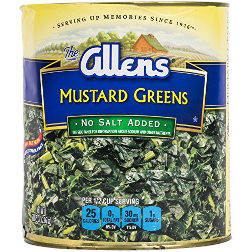 Mustard Green - Chopped Mustard Greens - #10 Can By TableTop King