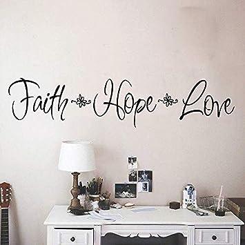 ttymei DIY Art Faith Hope Love Etiqueta de la pared Vinilo ...