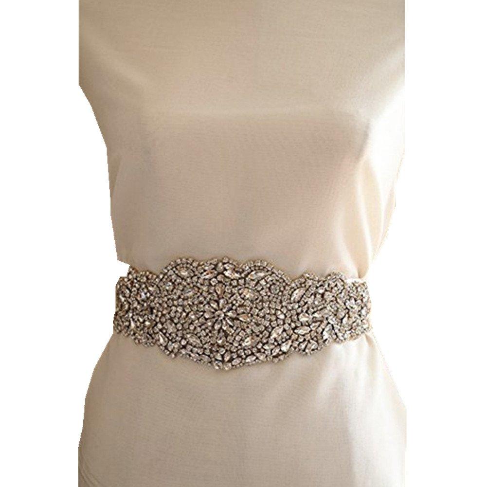 La suite de champán TRLYC onestopdiy.com cinturón faja brillanntes decorativos para vestido de novia