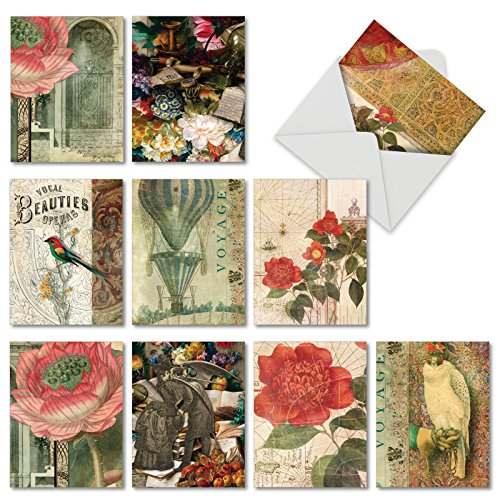 Garden Pattern Paper (M6727OCB Secret Garden: 10 Assorted Blank All-Occasion Note Cards Featuring Vintage Style Floral Collages, w/White Envelopes.)