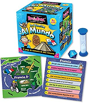 Brain Box Juego de Memoria Al Mundo, Multicolor (Green Board Games 316460A): Green Board Games BrainBox World Memory Recall Game (Spanish): Amazon.es: Juguetes y juegos