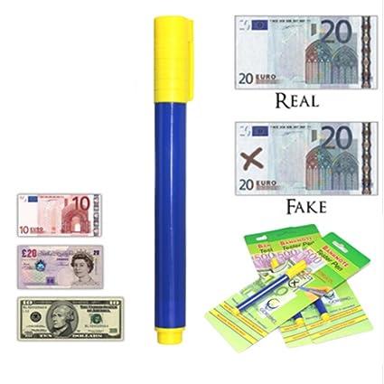 saicow ordist – Detector de billetes falsos, 2 estuco Bolígrafo detector de billetes falsos Tester