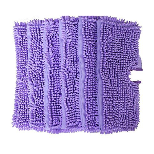 Pro Steamers Euro (ANBOO Replacement Mop Pads for Shark Steam Euro Pro Pocket Mops S3500, S3501, S3550, S3601, S3901 Shark Steam Duster Microfiber Cleaning Pads, Set of 6, Purple)